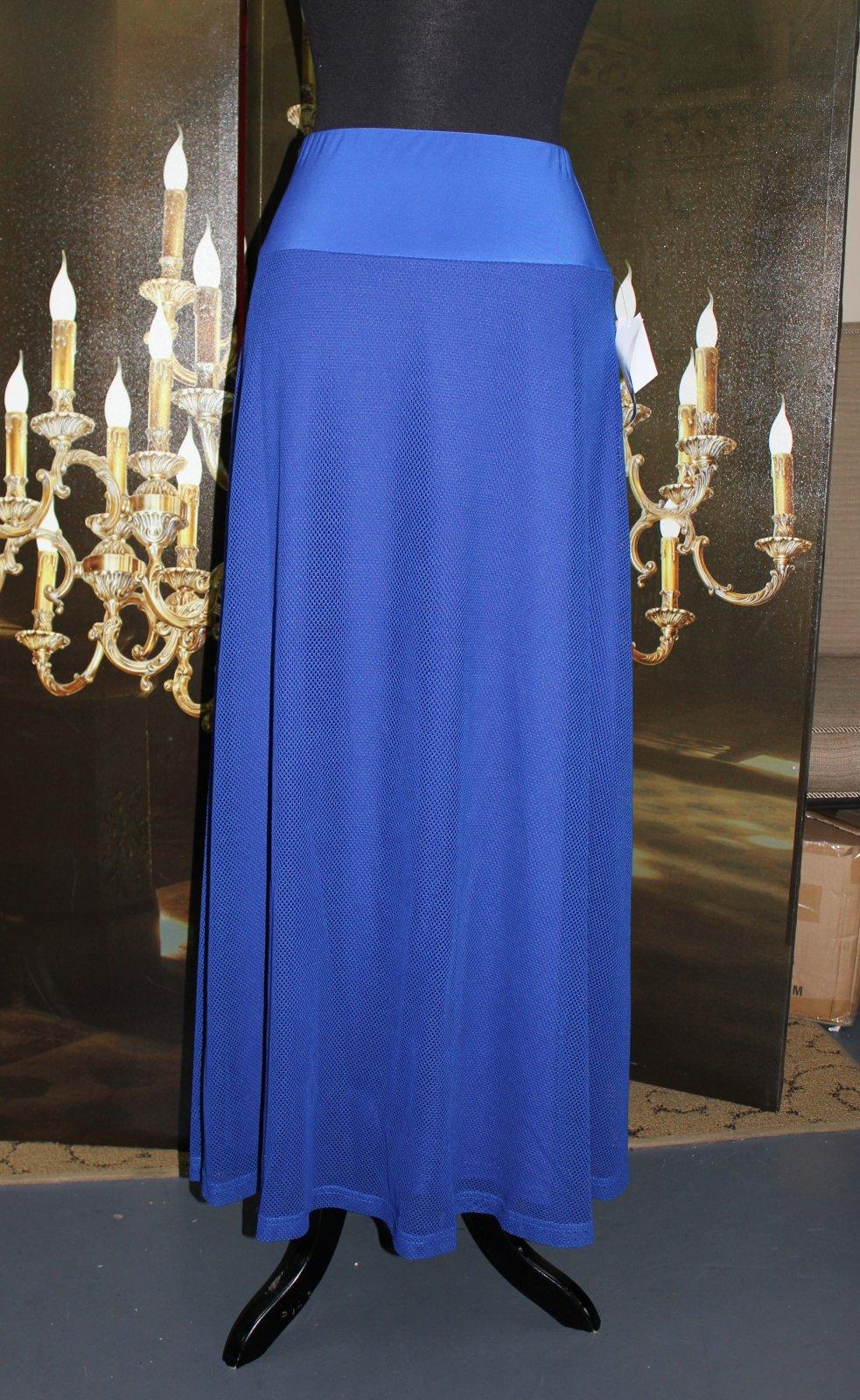 Royal Blue Mesh Skirt Maxi