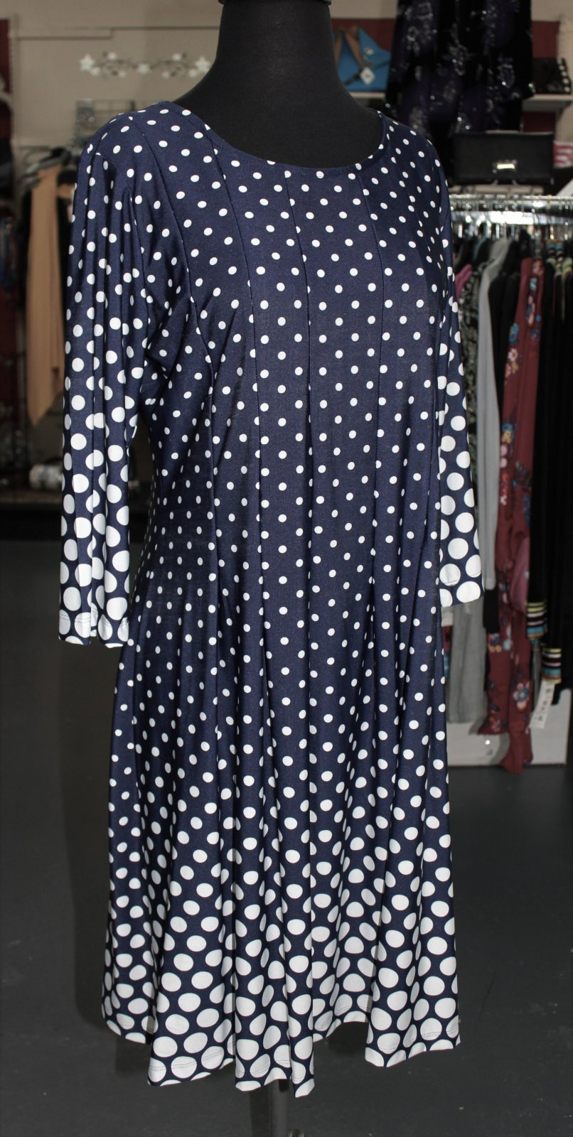 N Touch Navy Dot Dress