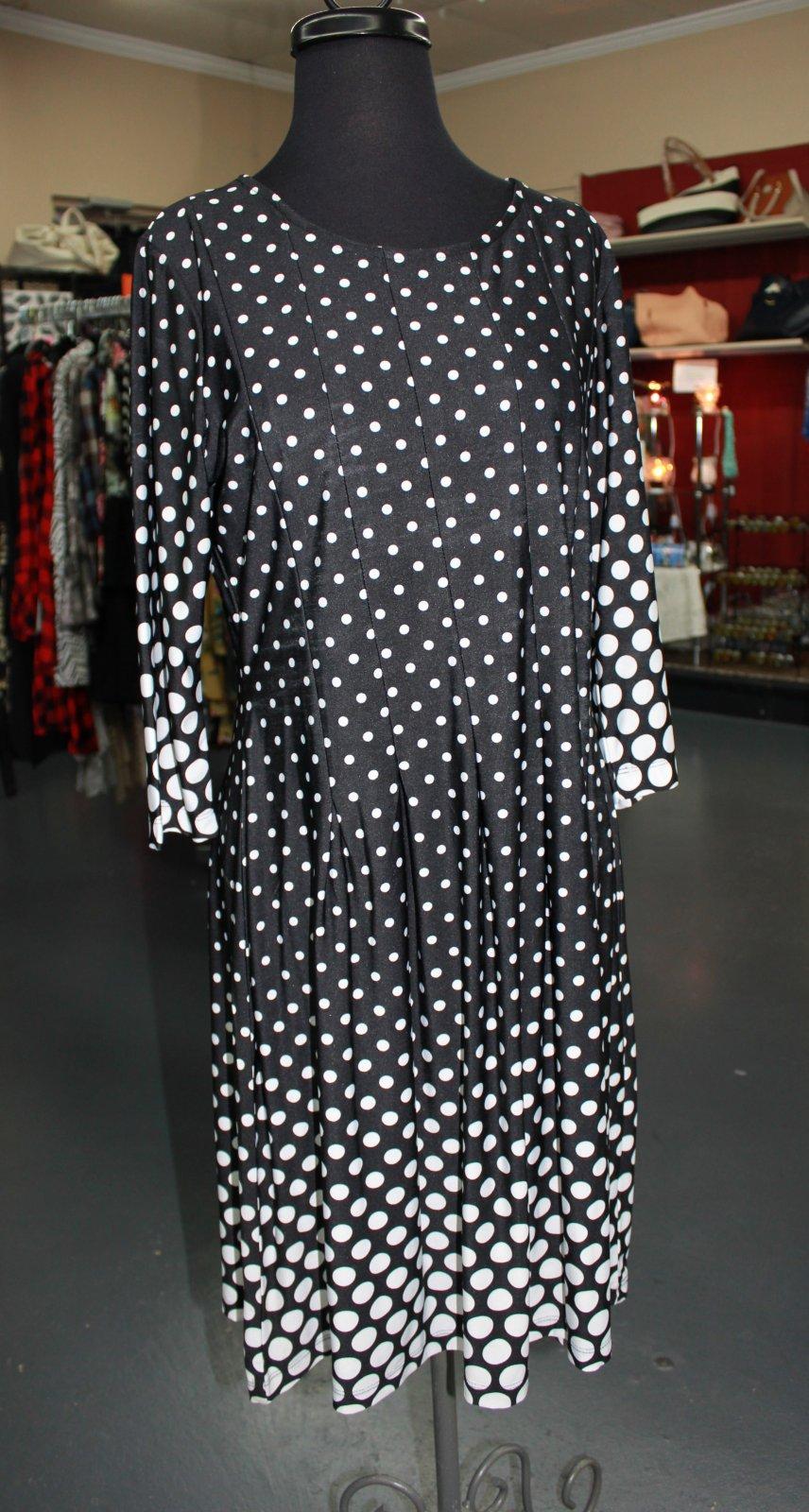 N Touch Black Dot Dress