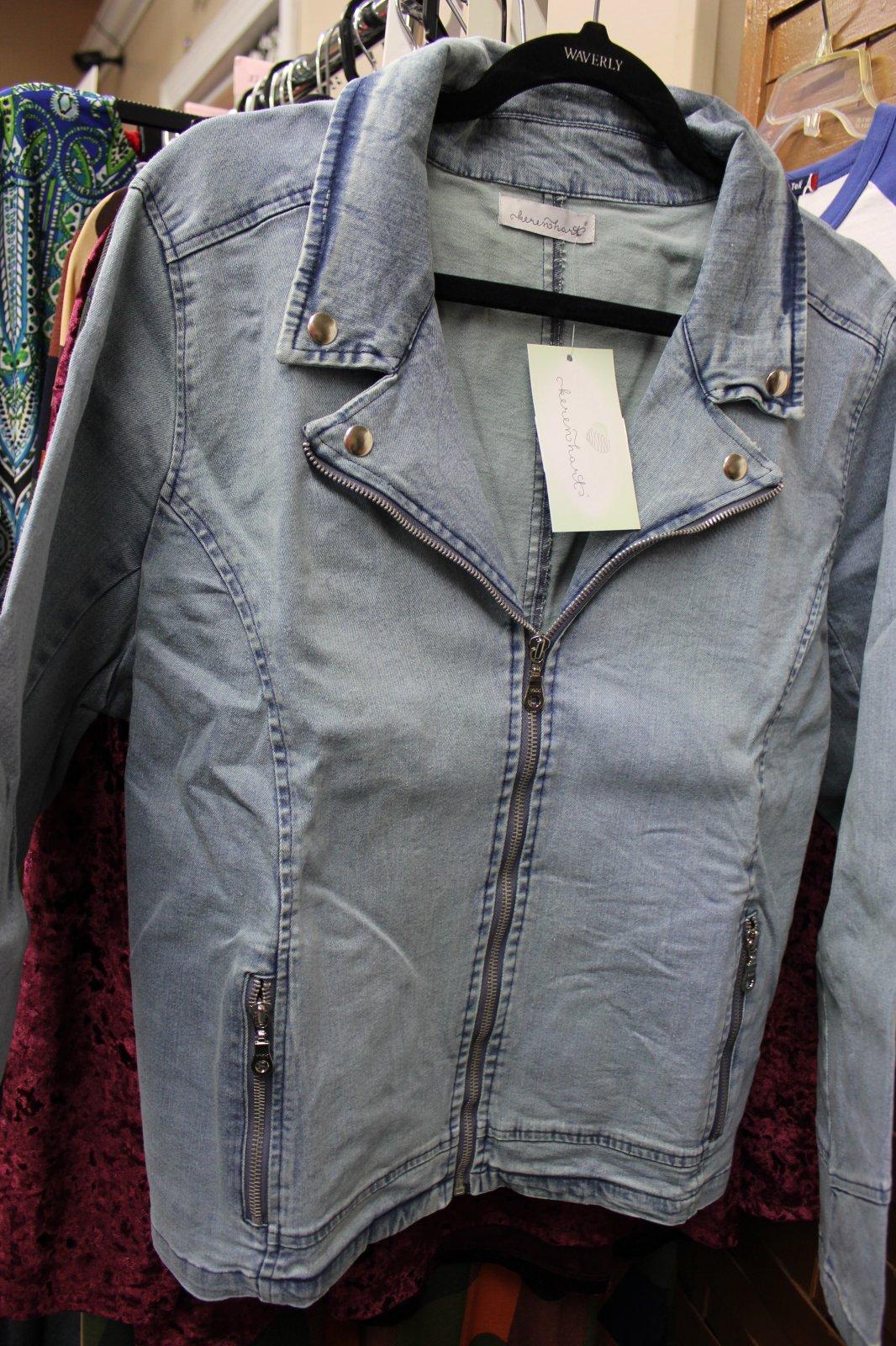 Plus Denim Jacket w/ Zippers