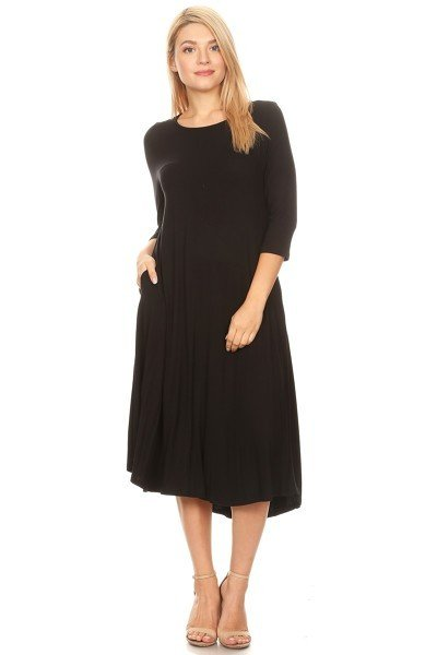 Moa Black Dress w/ pockets