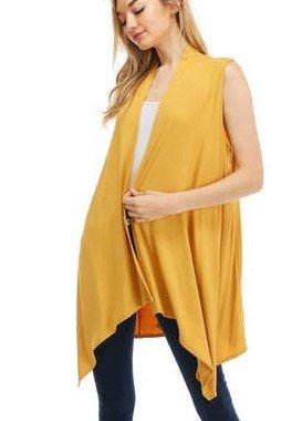 Azules Mustard Vest