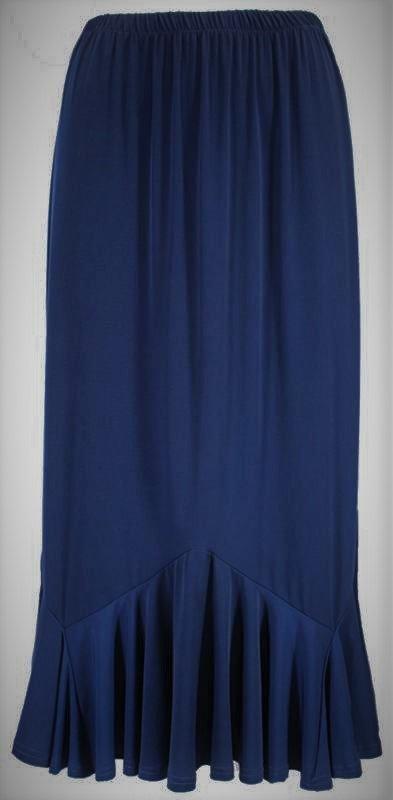 Ruffle Hem Navy Skirt SL