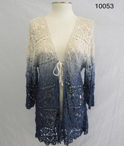 Le Moda Crochet Ombre Cardigan