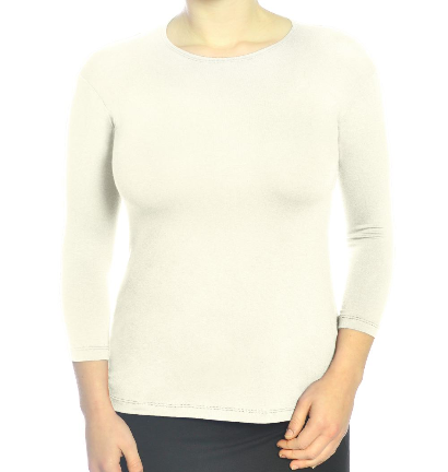 KC White 3/4 Sleeve layering top
