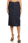Dark Indigo Denim Pencil Skirt