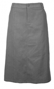 Plus Size, Twill Skirt, Gray SL
