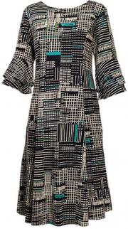 Plus N Touch Navy Print Dress