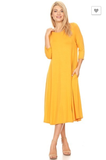 Moa Mustard Dress w/ pockets