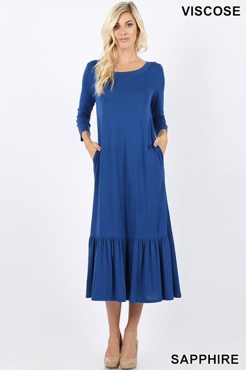 Zenana Royal Blue Midi Dress