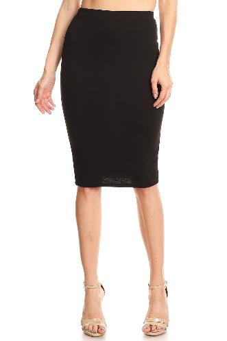 Moa Black Pencil Skirt