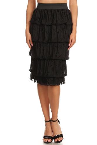 Black Mid Length Skirt Avital
