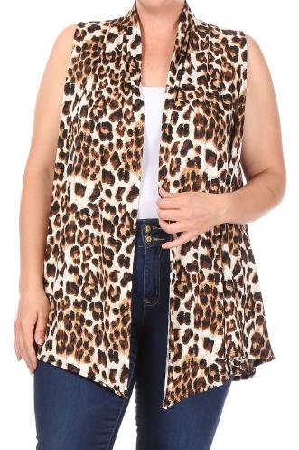 Plus Leopard Vest