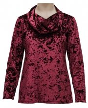 Plus Size Southern Lady Crushed Velvet Top