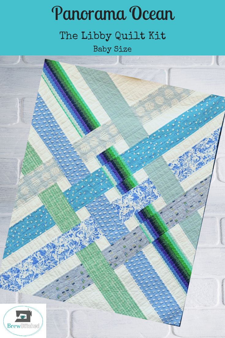 The Libby Quilt - Baby Quilt Size Kit in Panorama Ocean