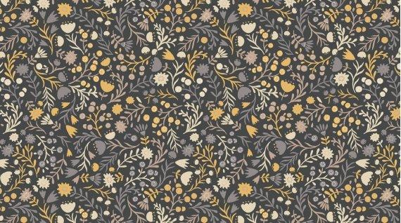 Timberland by Dear Stella Stella 627 Wood Floral Mocha