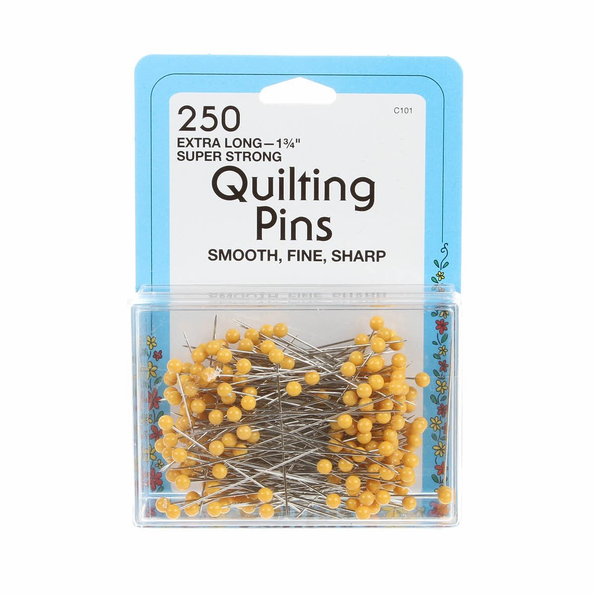 Quilting Pins - Yellow Head 250ct