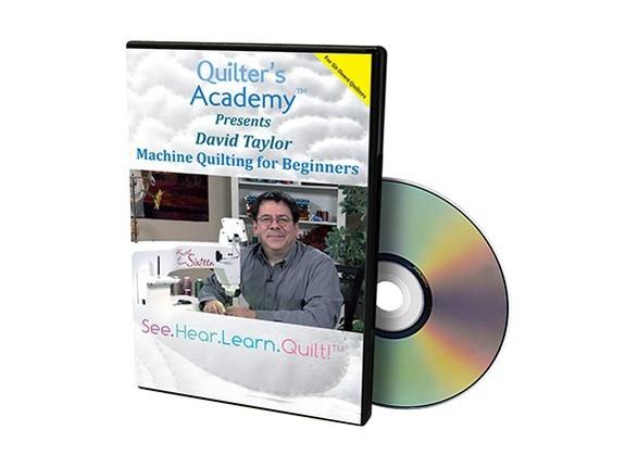 HQ Presents David Taylor: Machine Quilting for Beginners DVD