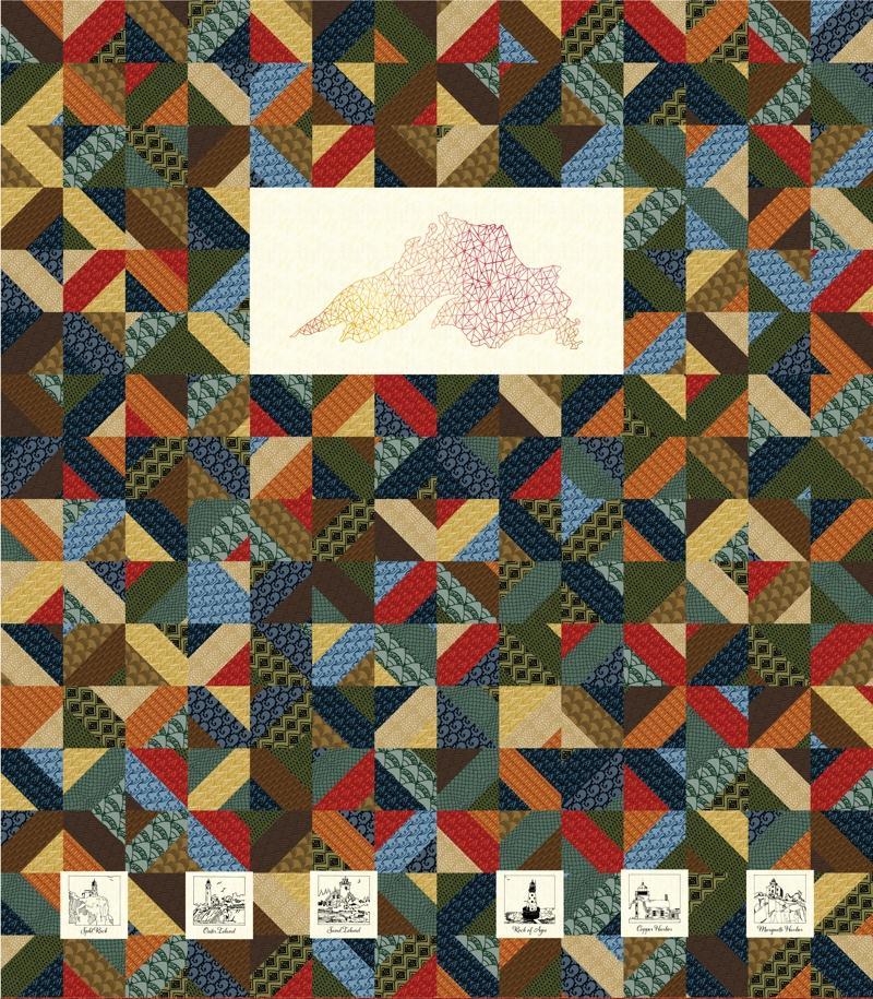 Flotsam & Jetsam Cheater Quilt Panel