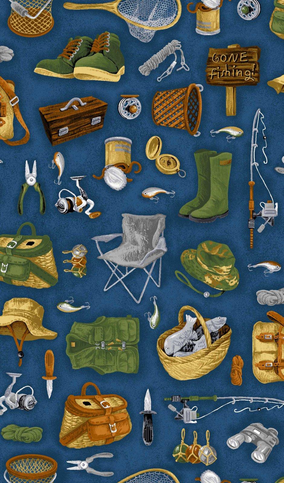 Go Fish - Allover Fish Blue - 6019301