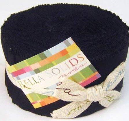 Bella Solid Black Jelly Roll Jr