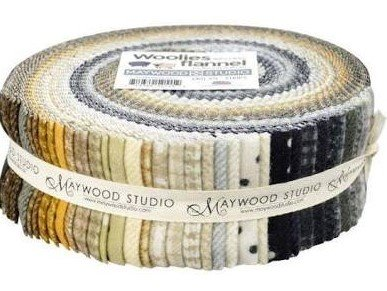 Woolies Neutrals Flannel Jelly Roll