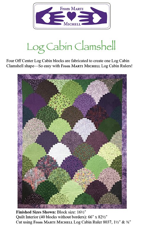 Log Cabin Clam Shell quilt pattern