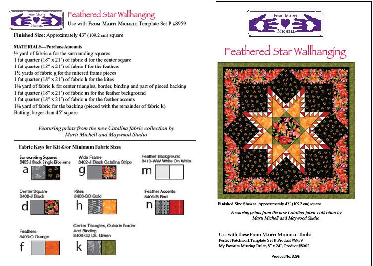 Feathered Star Wallhanging Pattern
