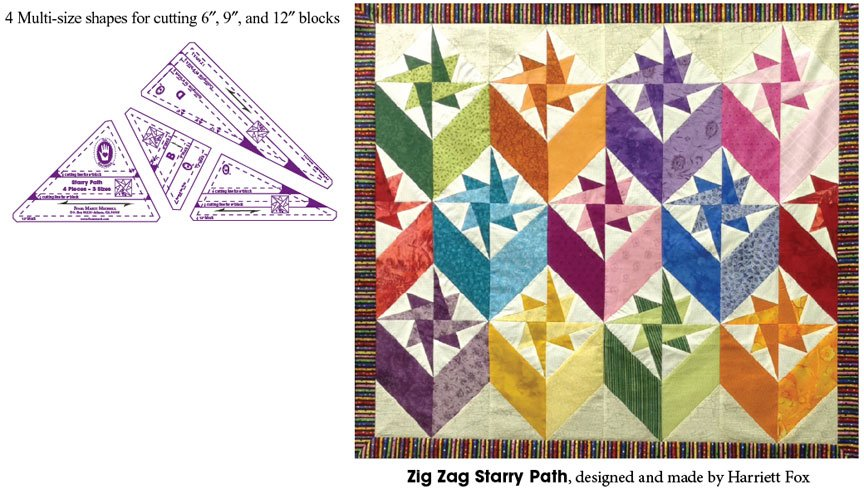 Starry Path Template Set and pattern