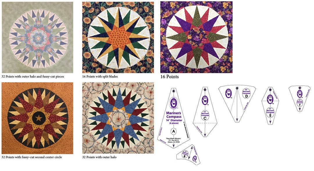 Mariner's Compass Template Set 14