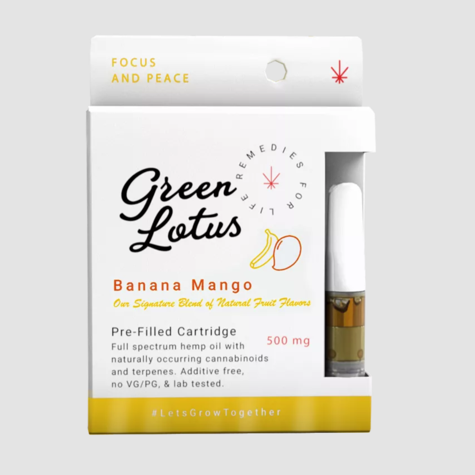 Green Lotus CBD Vape Cartridge Banana Mango 500mg
