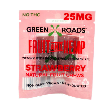 Green Roads Fruit and Hemp Strawberry Fruit Chews 25MG