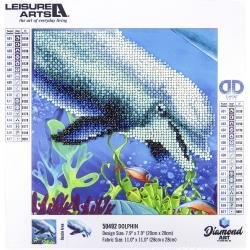 Leisure Arts Sparkle Art Diamond Paint Kit 10.63X10.63-Dolphin