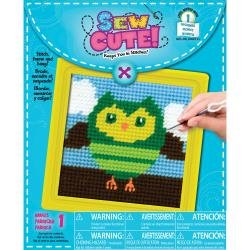 Owl Learn To Sew Needlepoint Kit-6X6 Stitched In Yarn