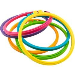 Bates Hoop-La Plastic Embroidery Hoop 5 Assorted Colors