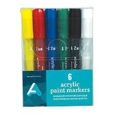 6pc Acrylic Paint Markers