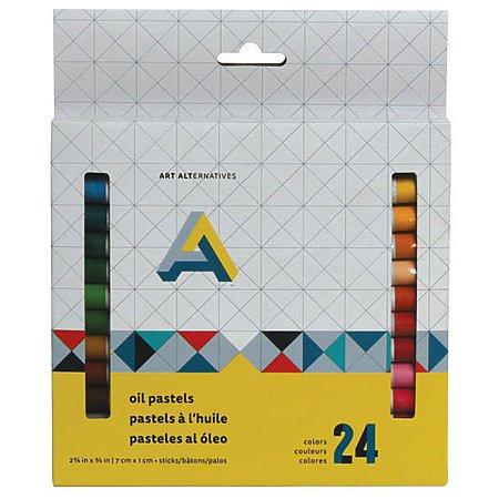 Oil Pastel 24-Color Set