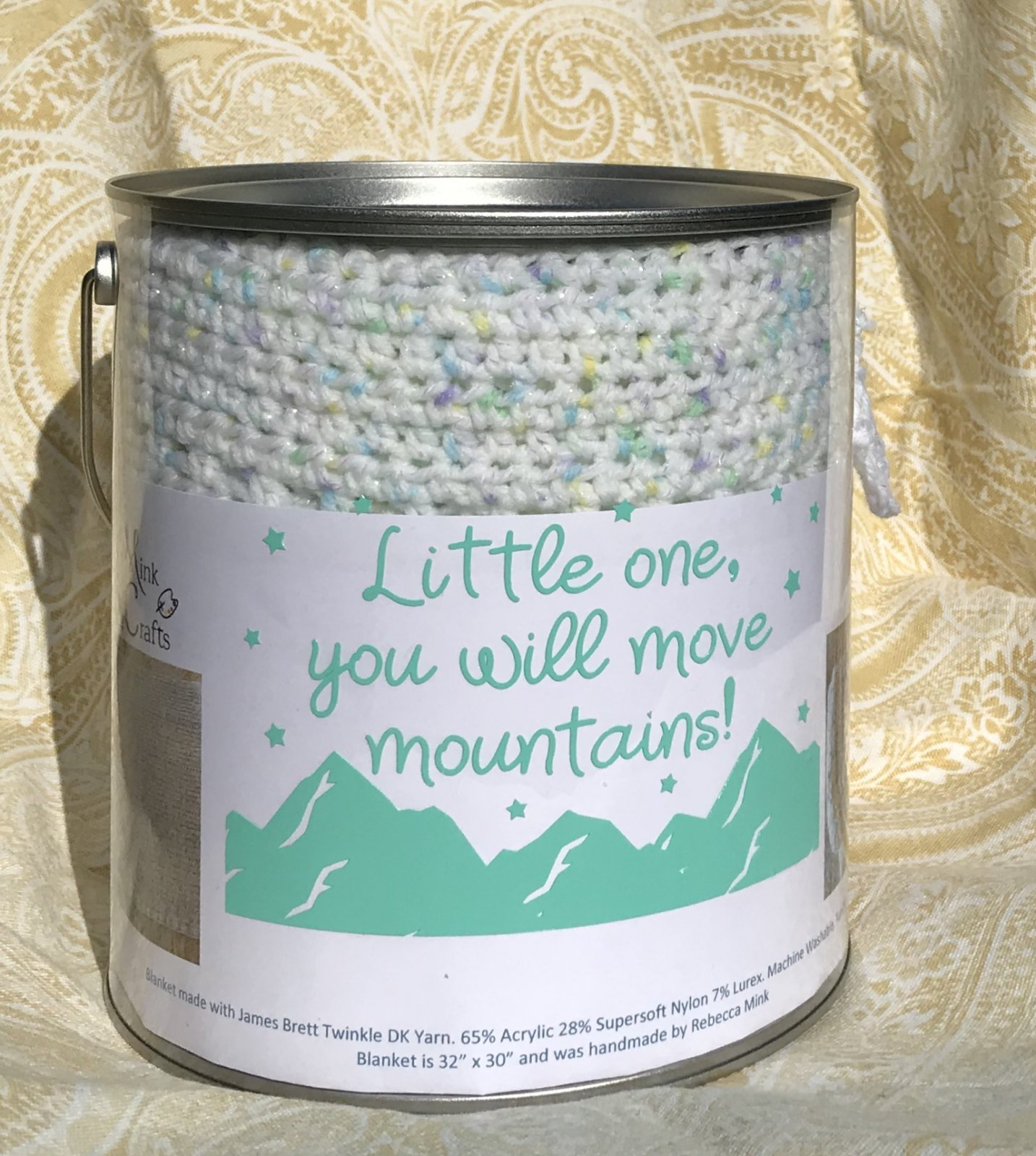 Blanket in Keepsake Paint Can