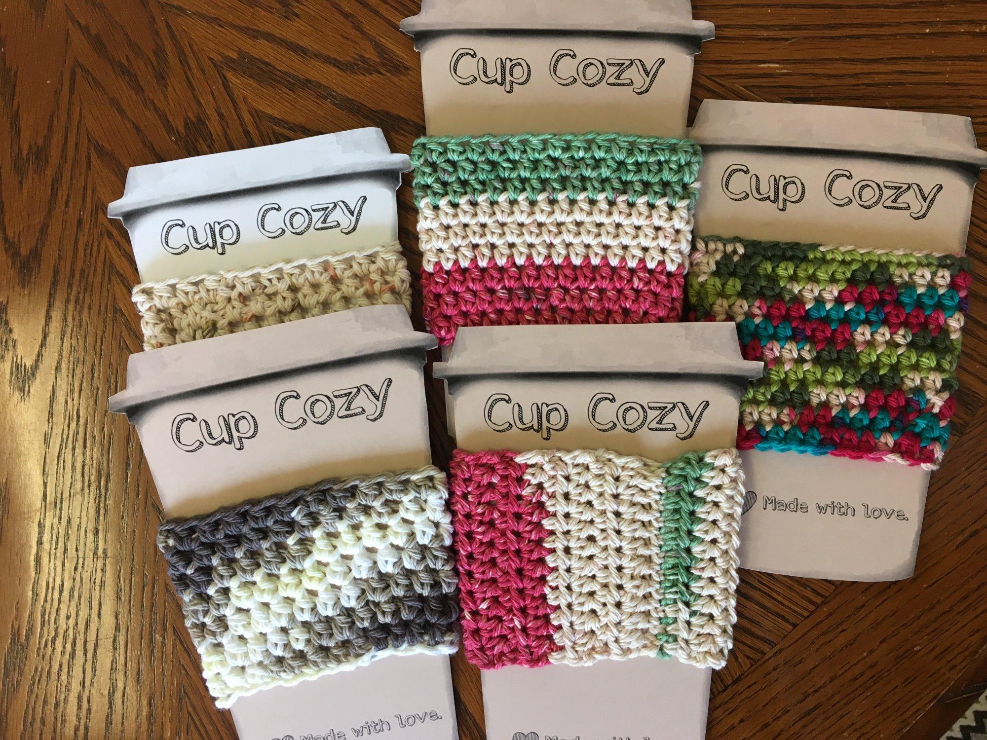 Crochet Cup Cozy - Assorted Colors