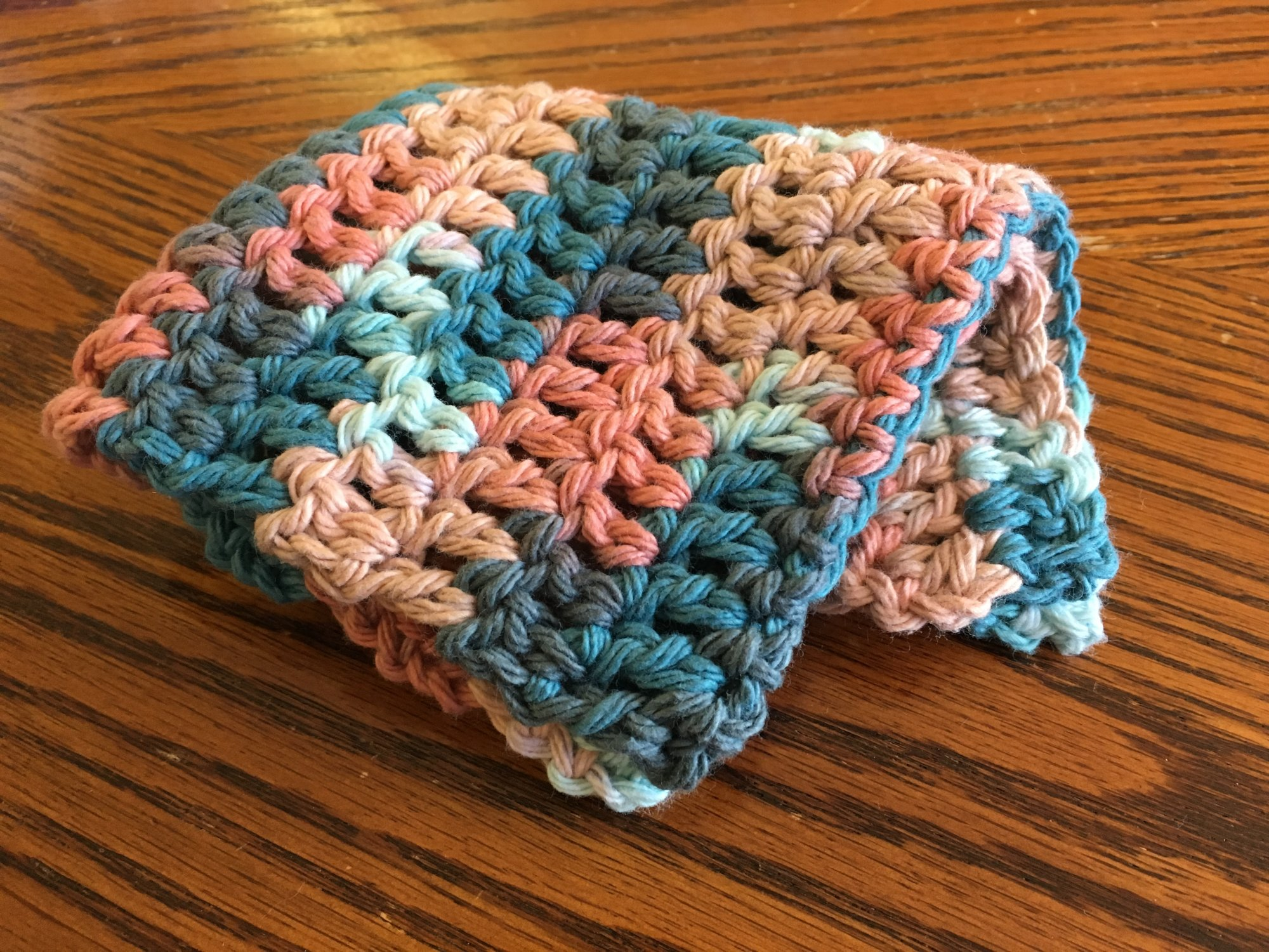100 % Cotton Crochet Baby Dishcloth  - Assorted Colors