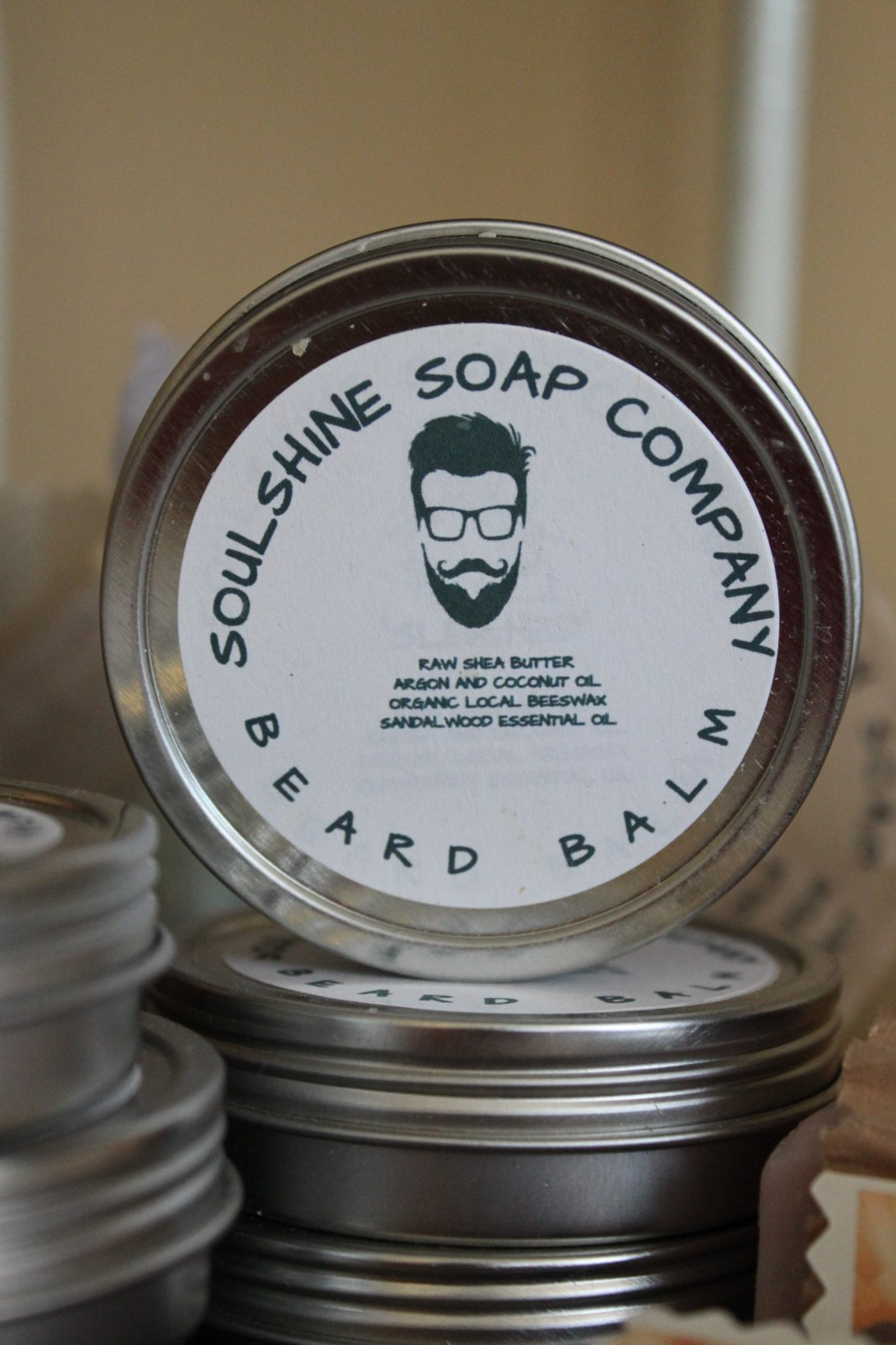 SoulShine Soap - Beard Balm Metal Tin