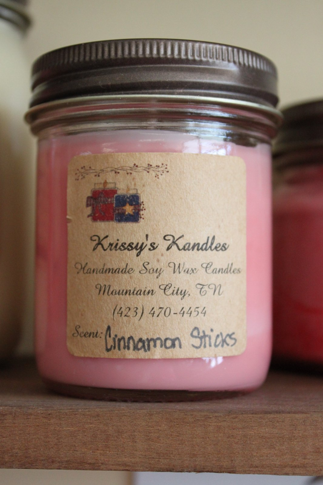 Krissy's Kandles 1 Pint Jar Soy Wax Candle