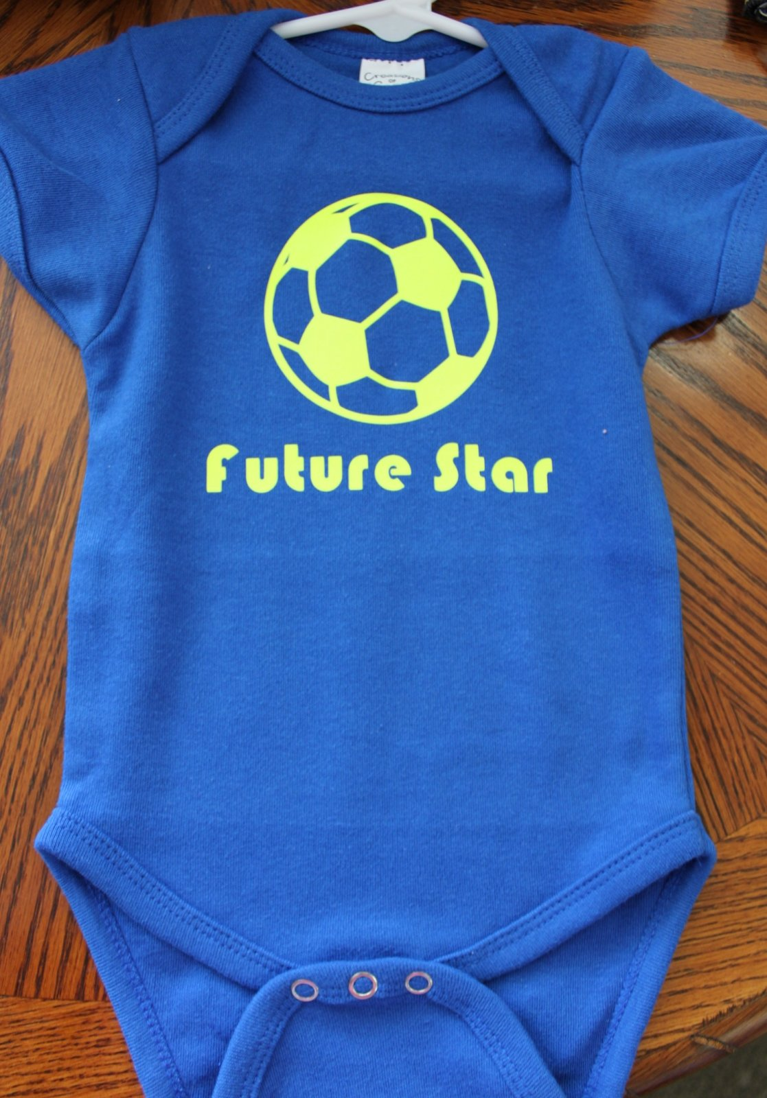 Dark Blue Onesie - Soccer Future Star - 6-12 mo