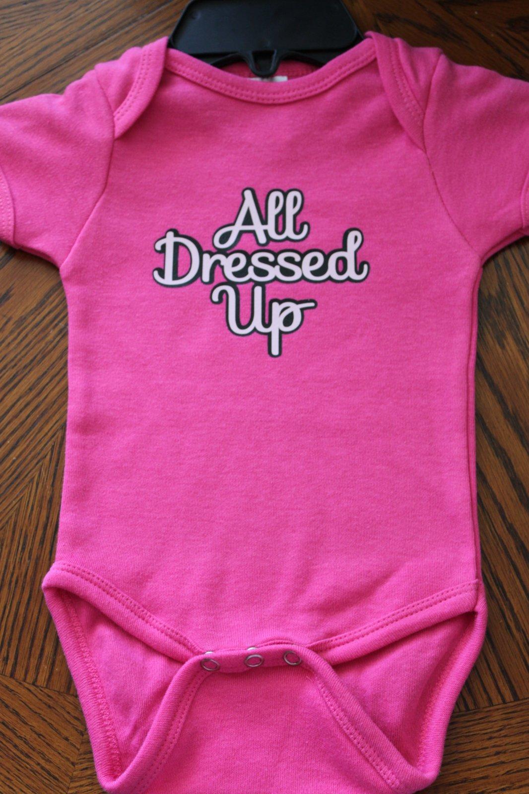 Dark Pink Onesie - All Dressed Up 6-12 mo