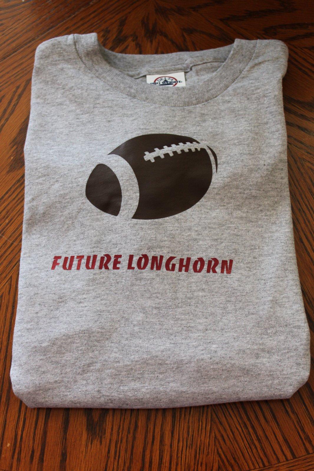 Gray Future Longhorn T-Shirt Youth Medium