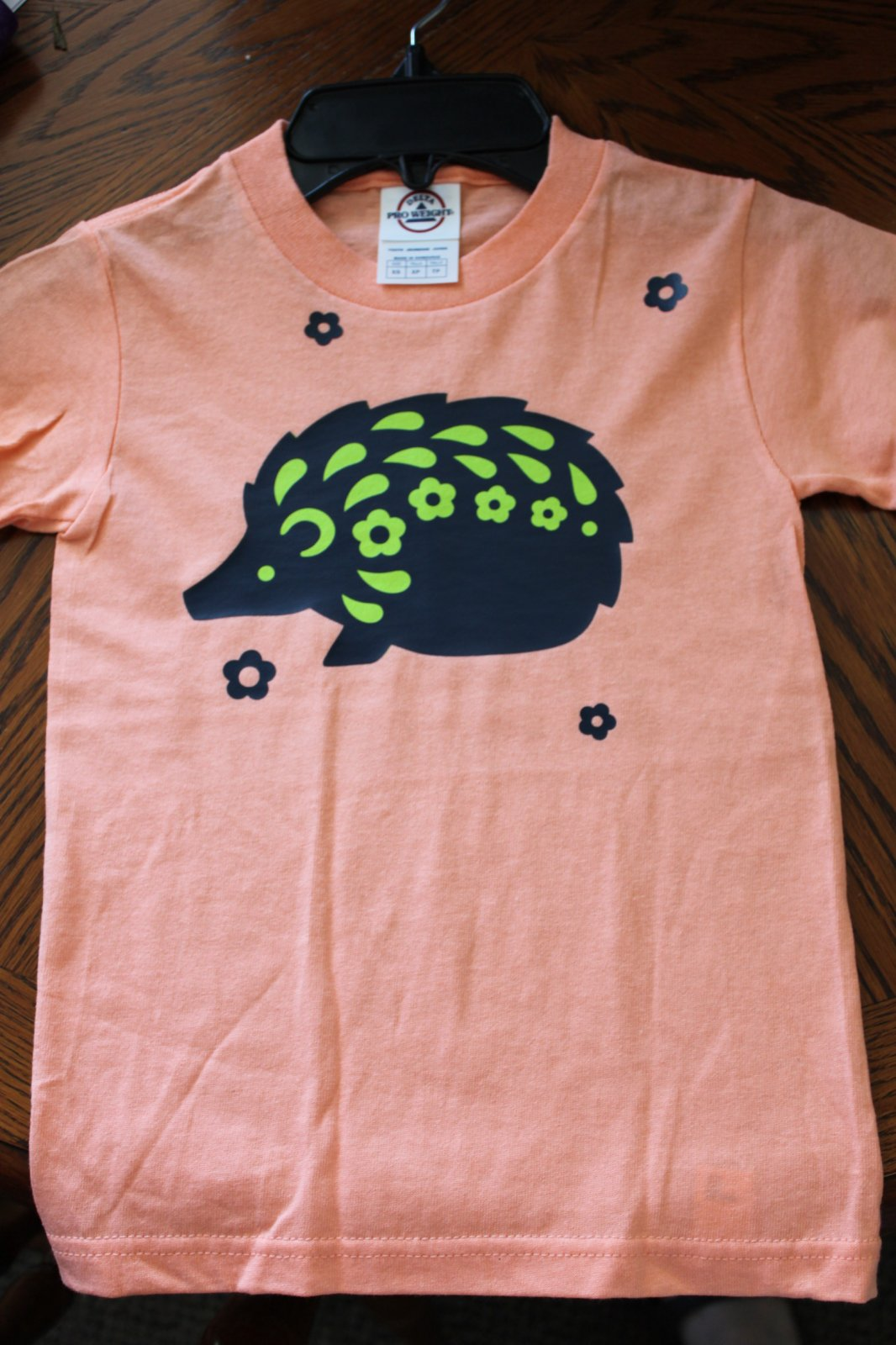 Light Orange Hedgehog T-Shirt Youth X-Small