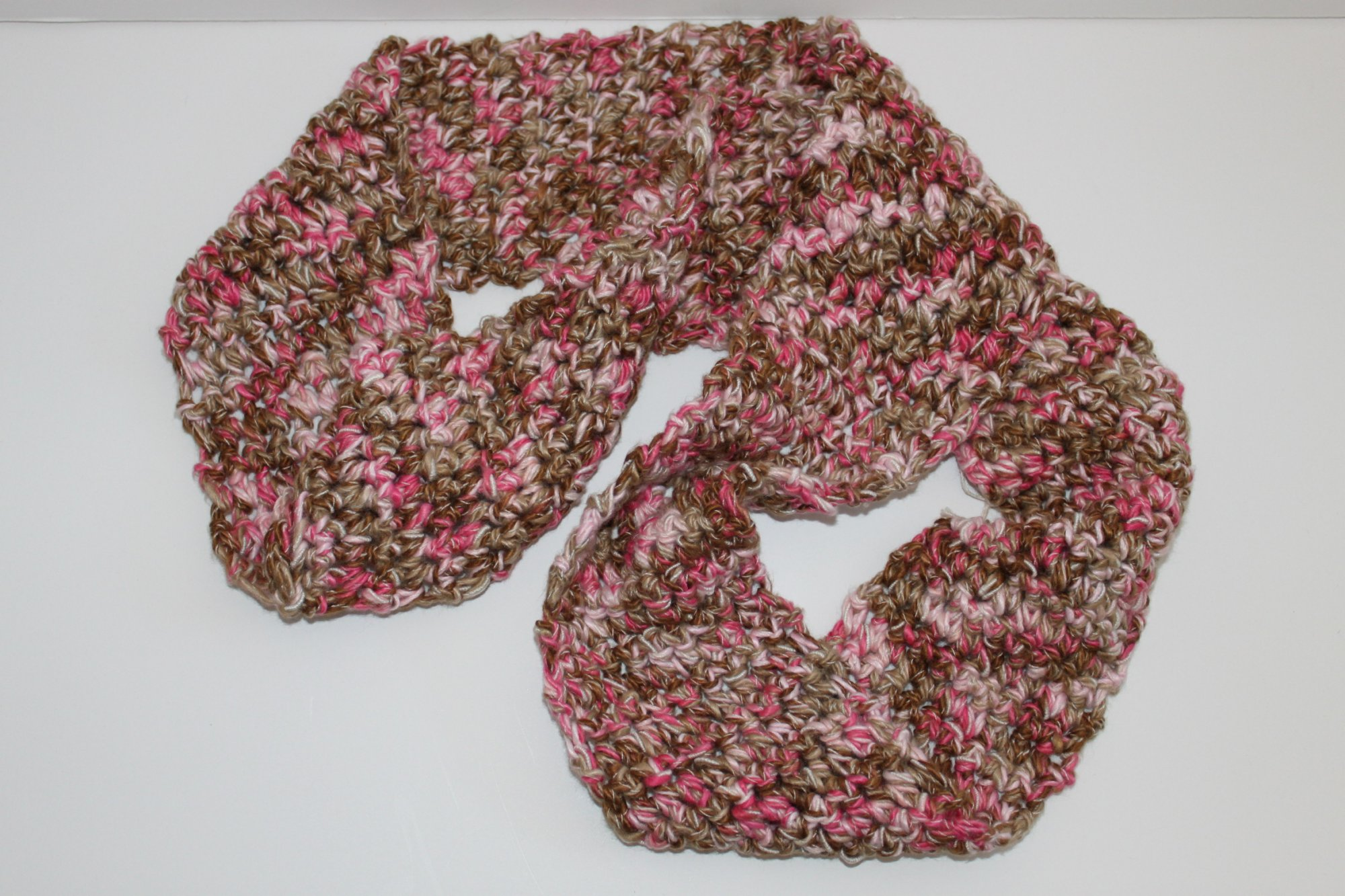 Pink/Brown Infinity Scarf
