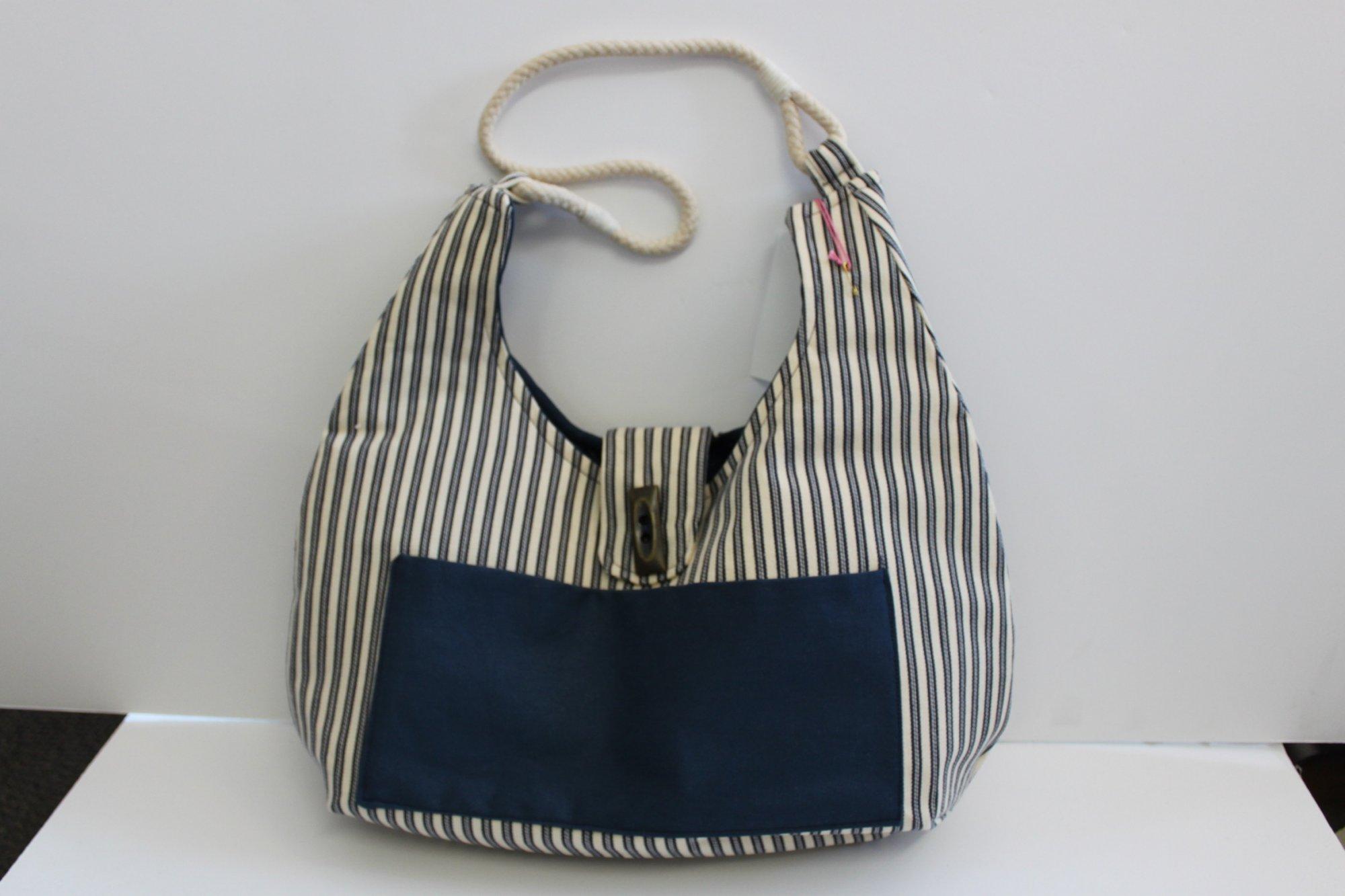 Blue Stripe Purse