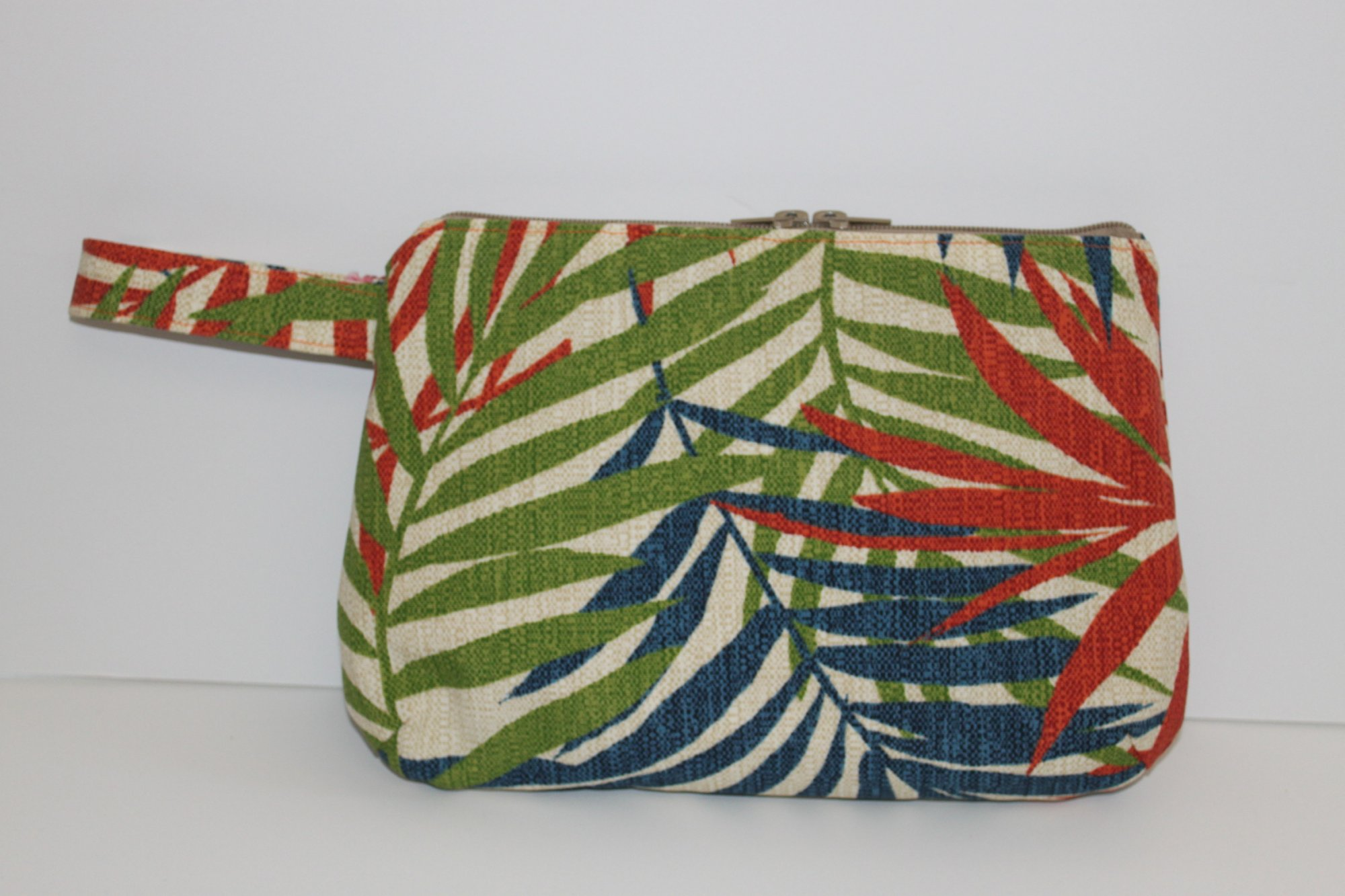 Navy/Orange/Green Palm Clutch