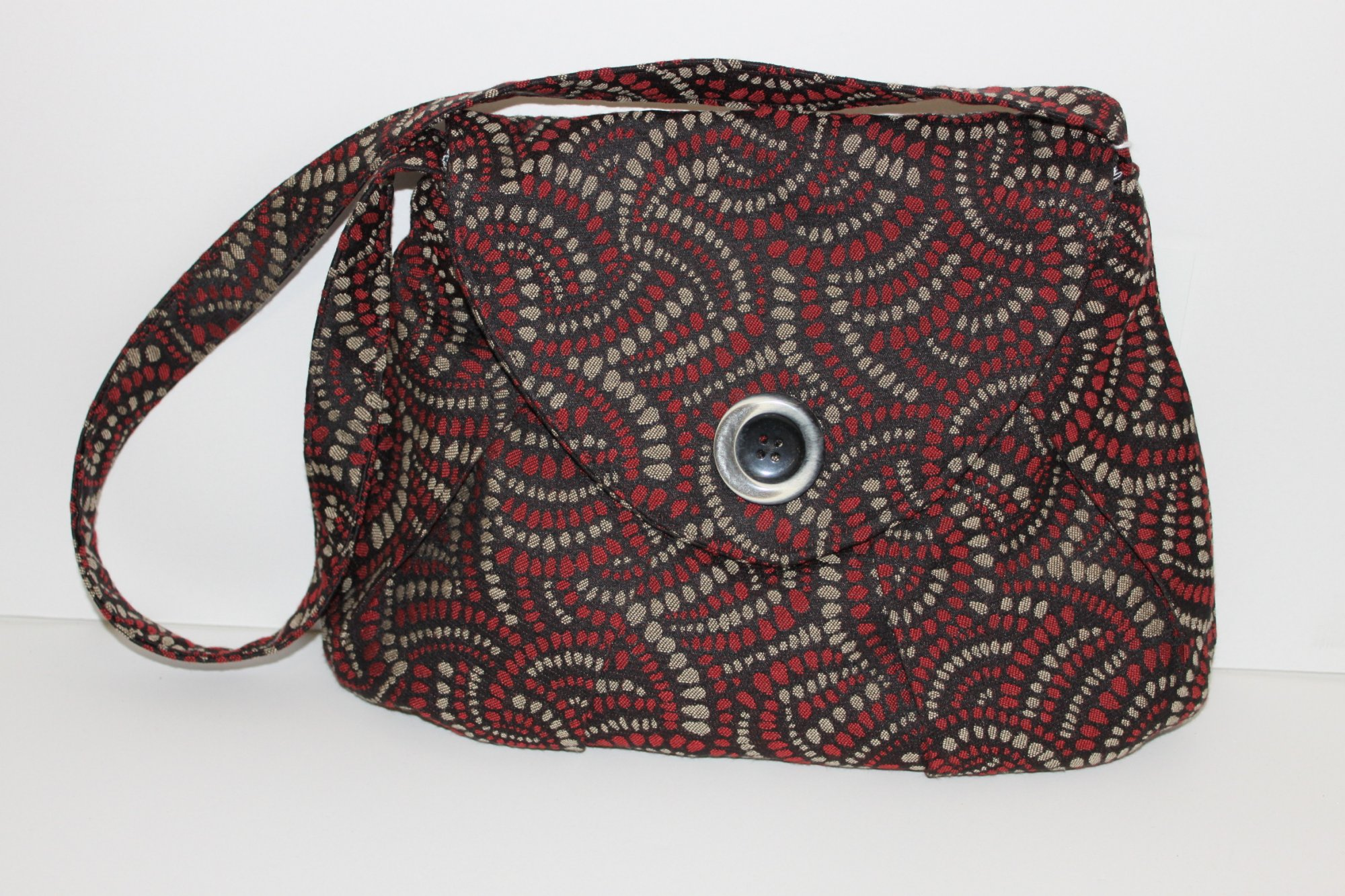 Red/Black/Taupe  Purse